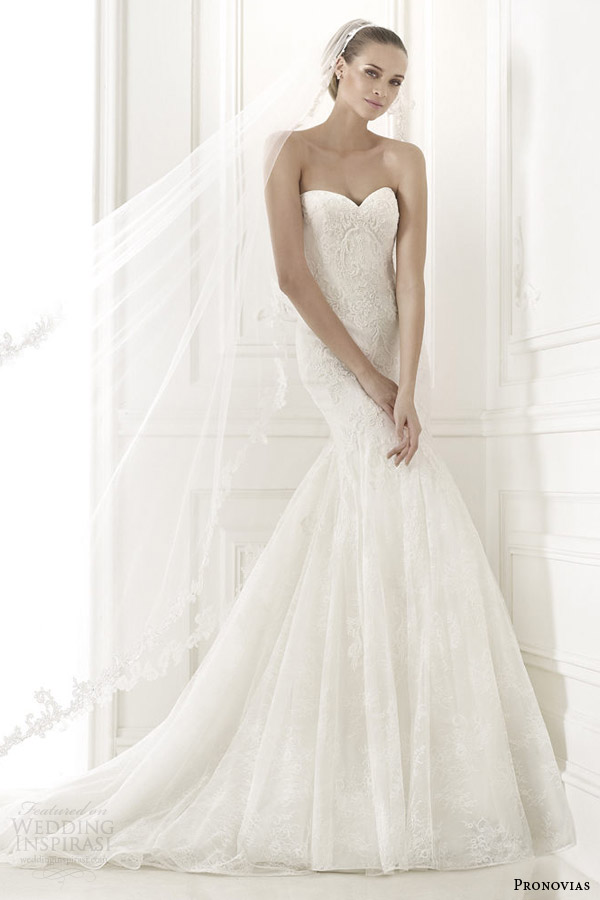 pronovias 2015 pre collection bertina strapless wedding dress