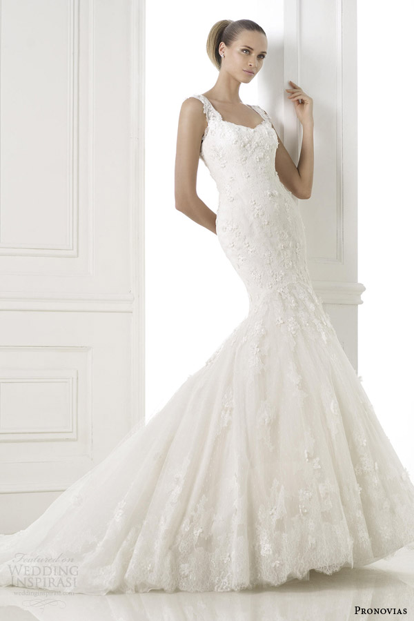 pronovias bridal pre 2015 basa sleeveless mermaid wedding dress