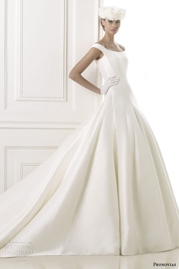 pronovias pre 2015 balder wedding dress with off shoulder straps