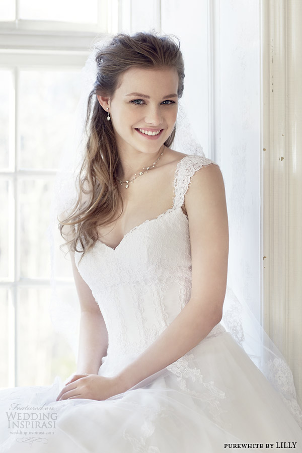Lace Up Corset Wedding Dress 91 Vintage purewhite by lilly wedding
