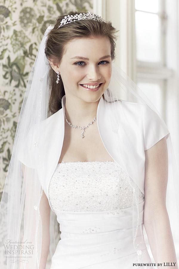 Wedding Gown With Bolero 60 Elegant purewhite by lilly bridal