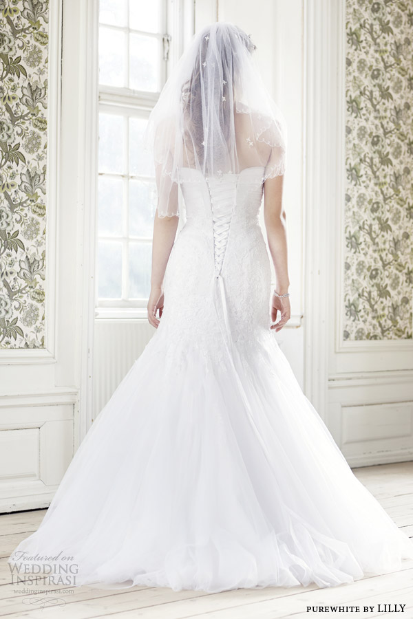 Lace Up Corset Wedding Dress 4 Trend purewhite by lilly bridal