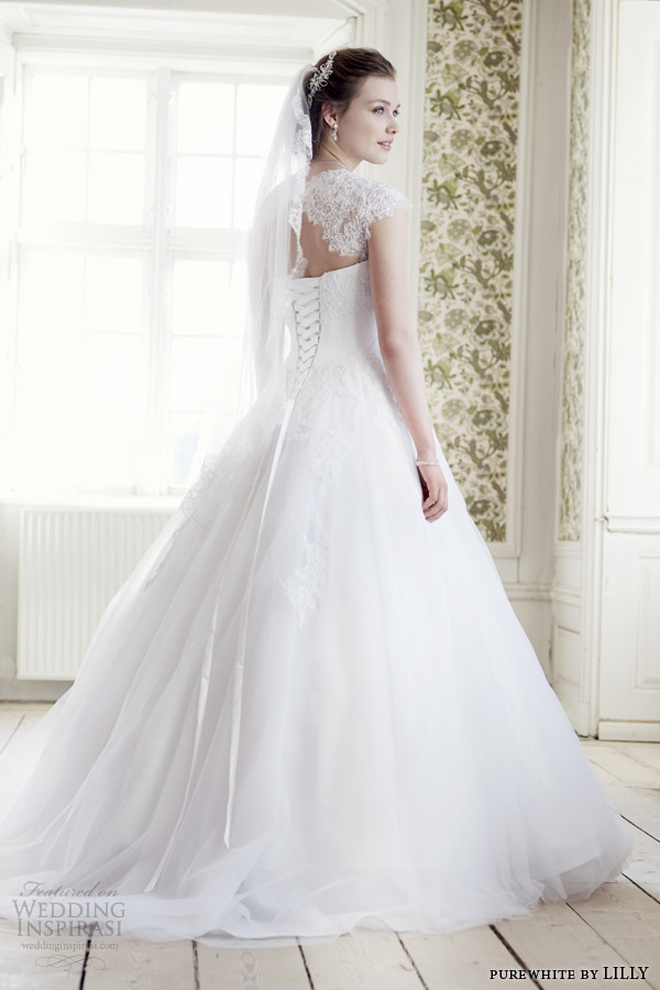 Purewhite By Lilly Bridal 2017 Wedding Dress Style 08 3225 Wh Back View