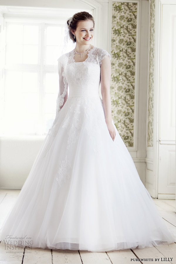 purewhite by lilly bridal 2014 wedding dress style 08 3225 wh