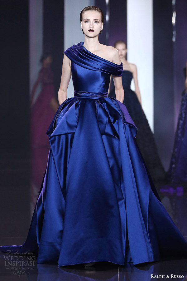 ralph and russo fall 2014 2015 haute couture look 19 blue evening gown