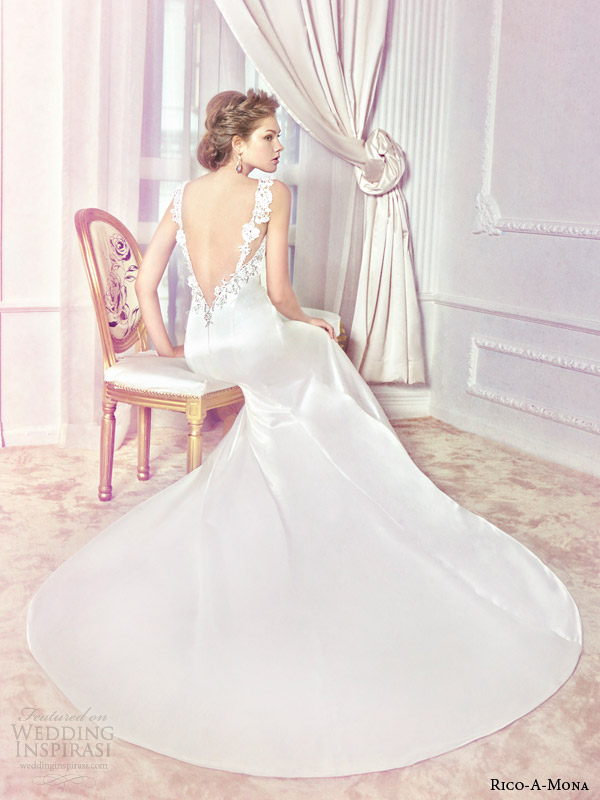 rico a mona 2014 wedding dress back view
