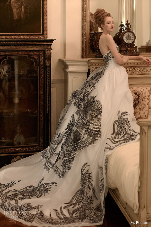 St pucchi 2014 2015 couture bridal collection for Black designer wedding dresses