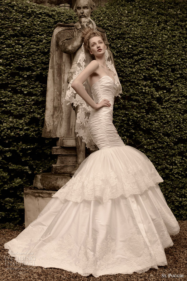 st pucchi wedding dress 2014 2015 ariel strapless mermaid gown