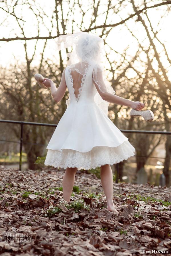 tobi hannah 2015 bridal brave short wedding dress back view