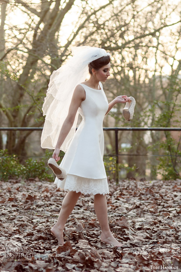 tobi hannah 2015 bridal brave short wedding dress