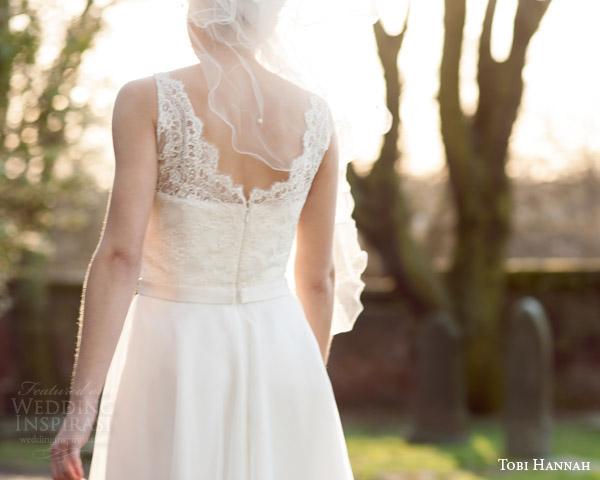 tobi hannah bridal 2015 affection sleeveless short wedding dress back view