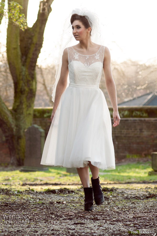 Tobi Hannah Bridal Short Wedding Dresses Tea Length