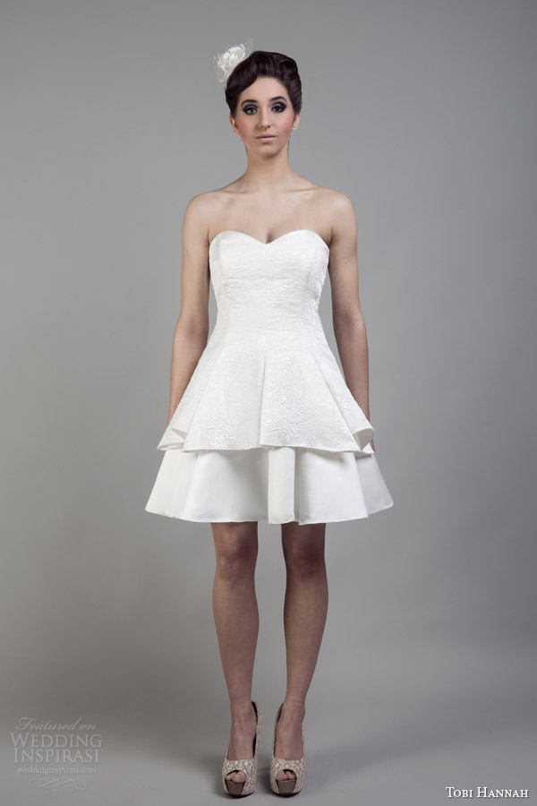 Short Wedding Dress 39 Nice tobi hannah bridal short