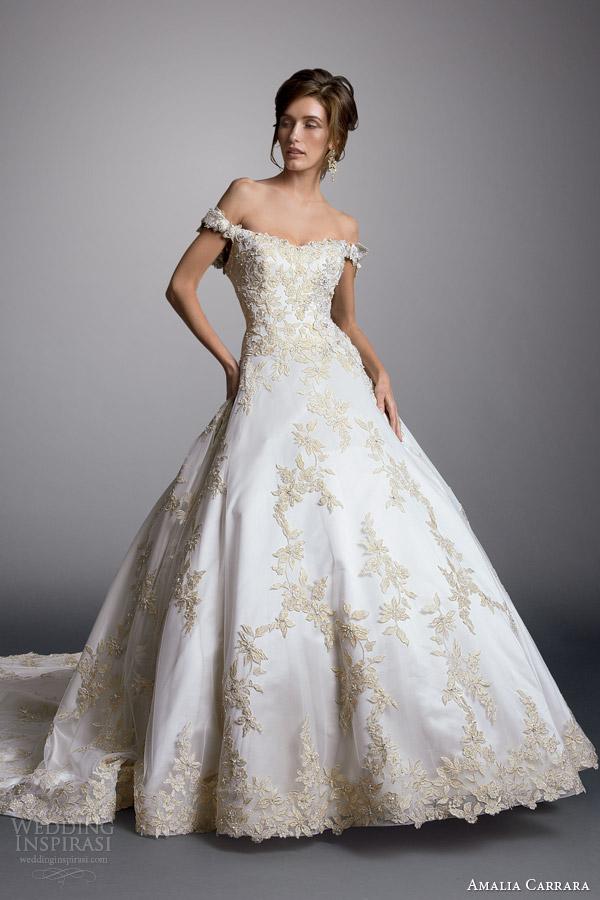 Amalia carrara 2014 off bola ombro do vestido de casamento vestido estilo 327 alt