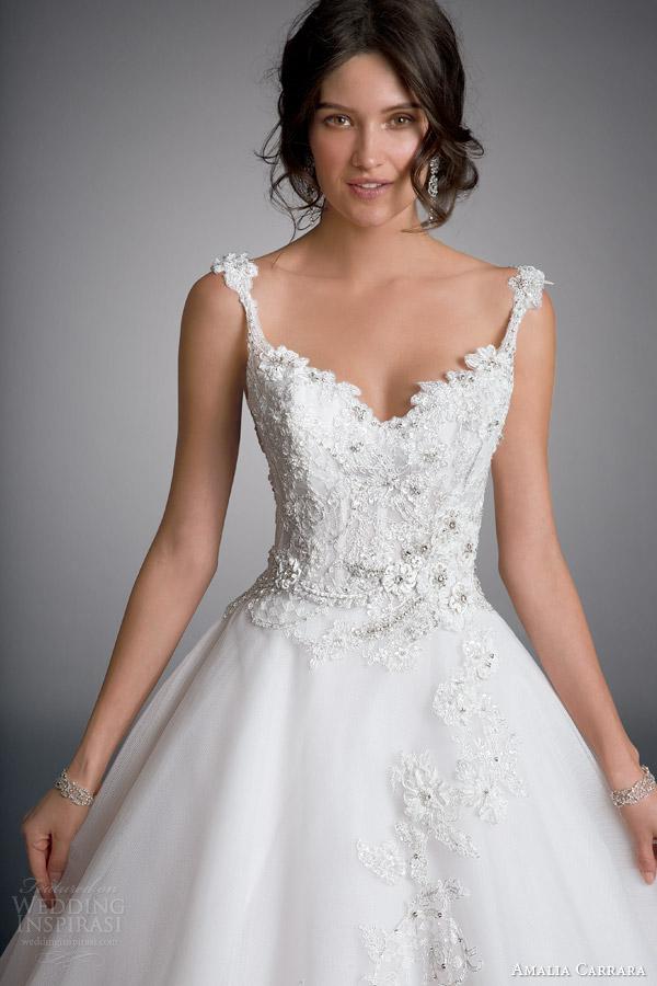 Amalia carrara véspera da milady vestido 2.014 bola com estilo vestido de noiva tiras 329 corpete de perto