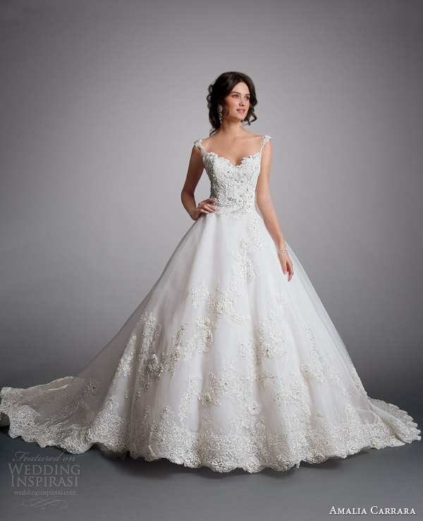 Most Beautiful Ball Gown Wedding Dresses: Amalia Carrara 2014 Wedding Dresses