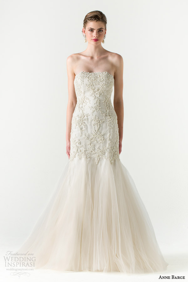anne barge bridal spring 2015 divine fit and flare wedding dress beaded bodice