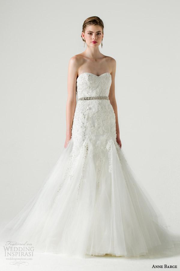 anne barge bridal spring 2015 promis fit flare wedding dress godet skirt