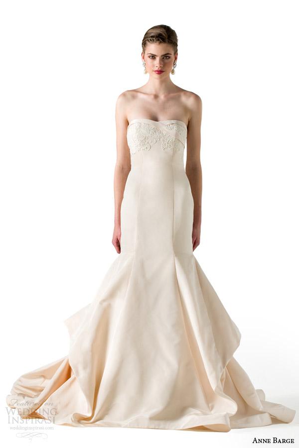 anne barge spring 2015 adore strapless wedding dress