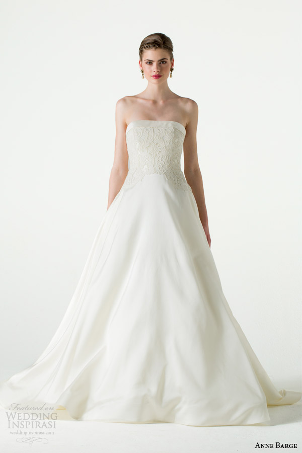 anne barge spring 2015 amour strapless wedding dress