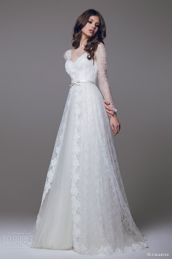 Blumarine wedding dresses 2015 part 2 wedding inspirasi for Lace wedding dress overlay
