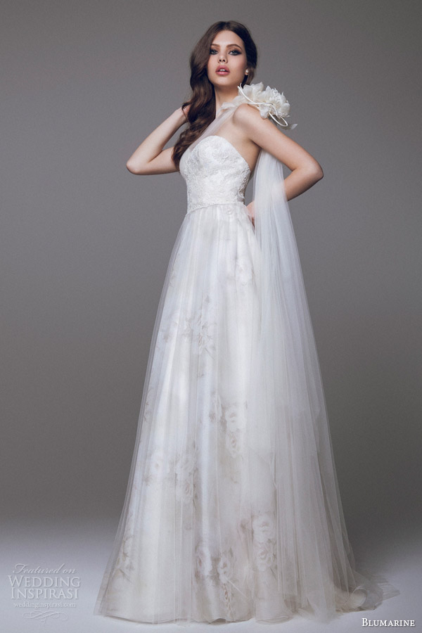 blumarine 2015 wedding dress tulle overlay strap