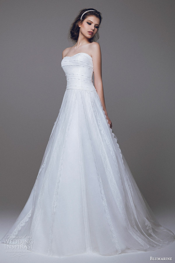 Blumarine bridal 2015 wedding dresses part 1 wedding for A line wedding dresses sweetheart neckline