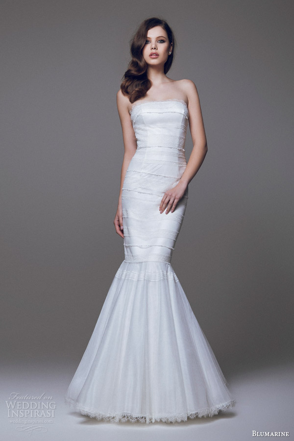 blumarine bridal 2015 strapless mermaid wedding dress