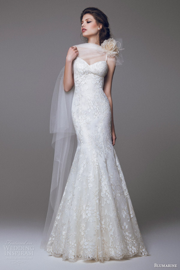 blumarine wedding dresses 2015 lace trumpet mermaid gown with straps