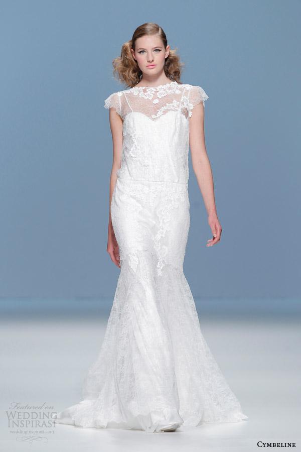 cymbeline 2015 cap sleeve sheath wedding dress