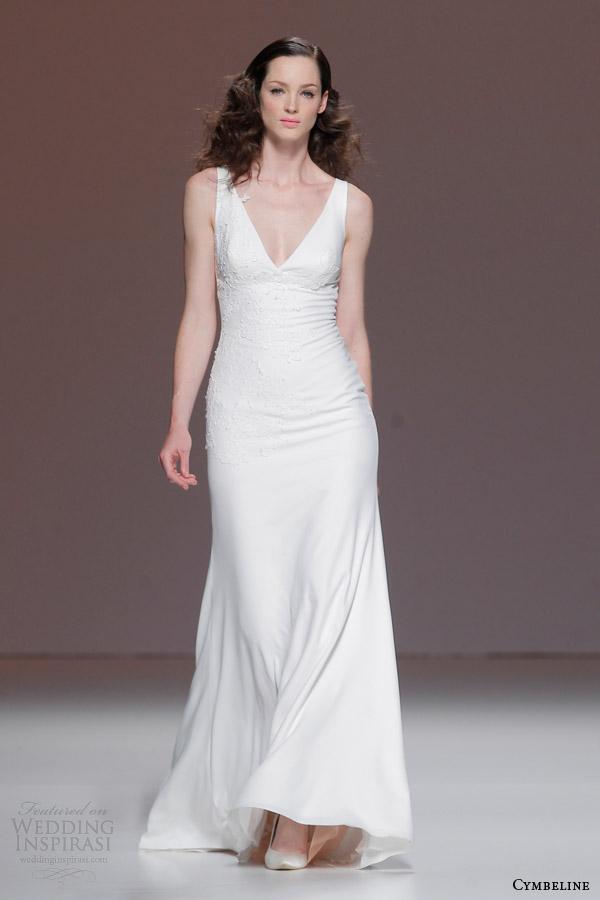 cymbeline 2015 sleeveless v neck wedding dress