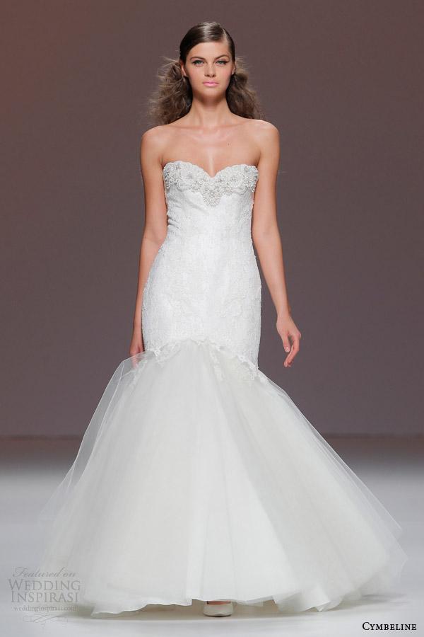 cymbeline 2015 strapless mermaid fit flare wedding dress