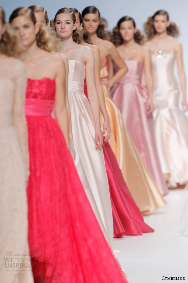 cymbeline bridal 2015 colorful wedding dresses