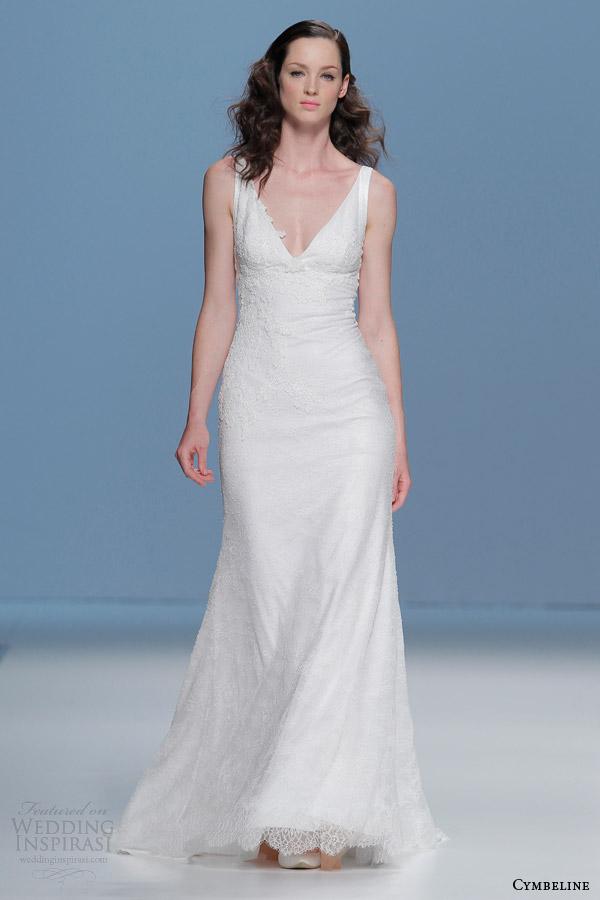 cymbeline bridal 2015 sleeveless sheath wedding dress v neck