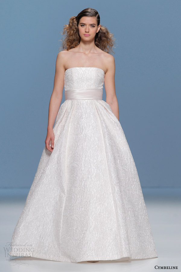 cymbeline bridal 2015 strapless ball gown wedding dress