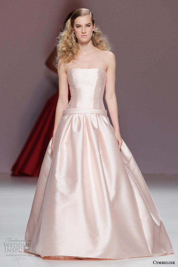cymbeline bridal 2015 strapless champagne colored wedding dress