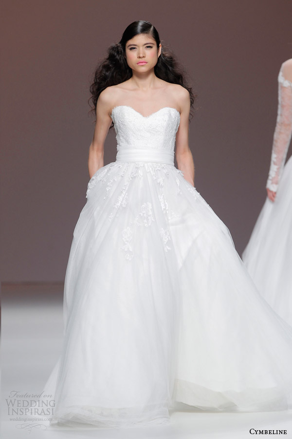 cymbeline bridal 2015 strapless lace bodice ball gown wedding dress