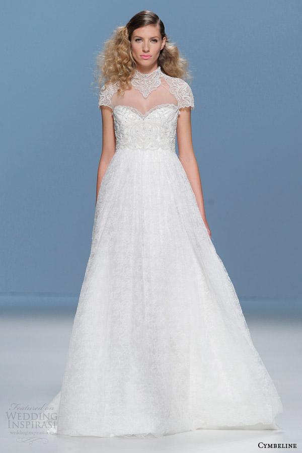 cymbeline wedding dresses 2015 beaded short sleeve gown