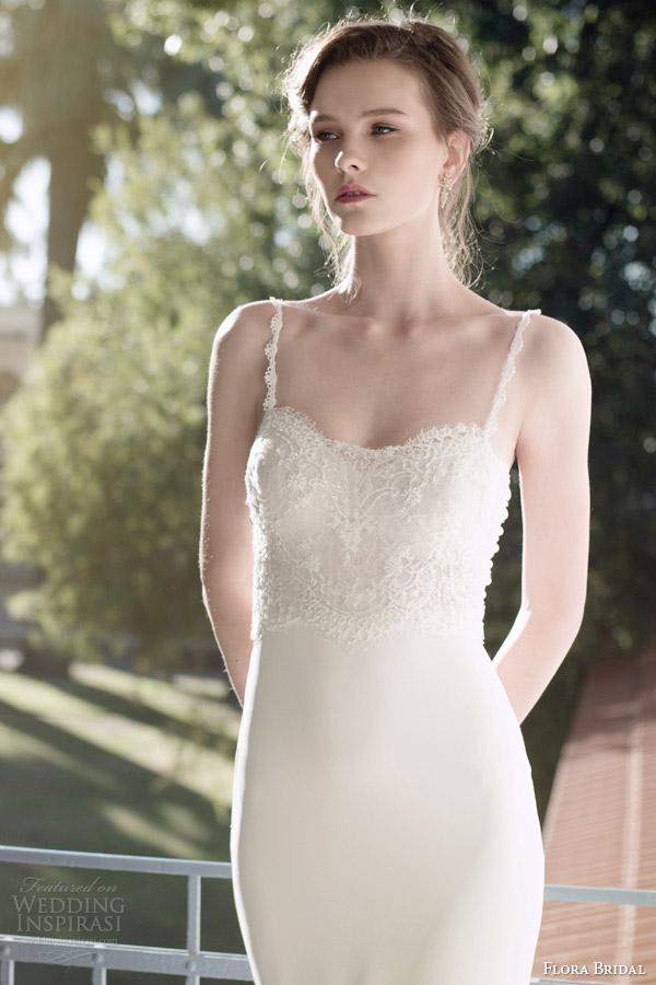 flora bridal 2014 magda sleeveless lace bodice wedding dress