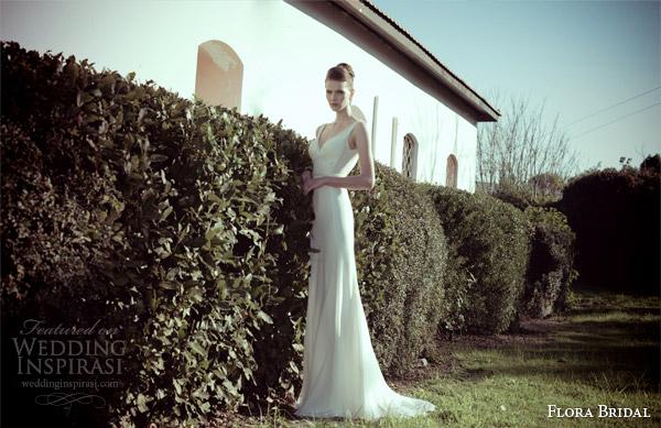 flora bridal 2014 sleeveless sheath wedding dress isabelle