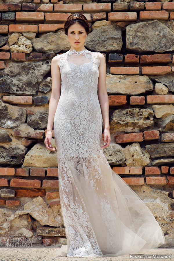 francesca miranda bridal fall 2014 antoinette sleeveless wedding dress front view