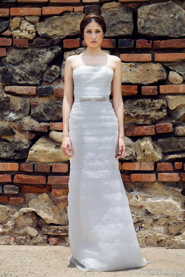 francesca miranda bridal fall 2014 clement strapless wedding dress
