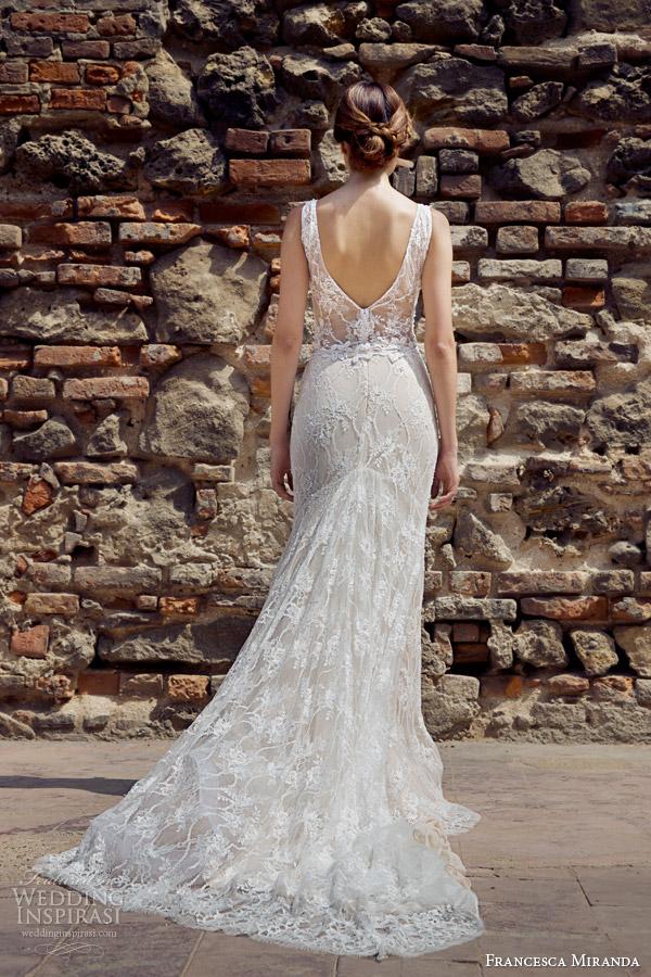 francesca miranda bridal fall 2014 constantina sleeveless v neck wedding dress back