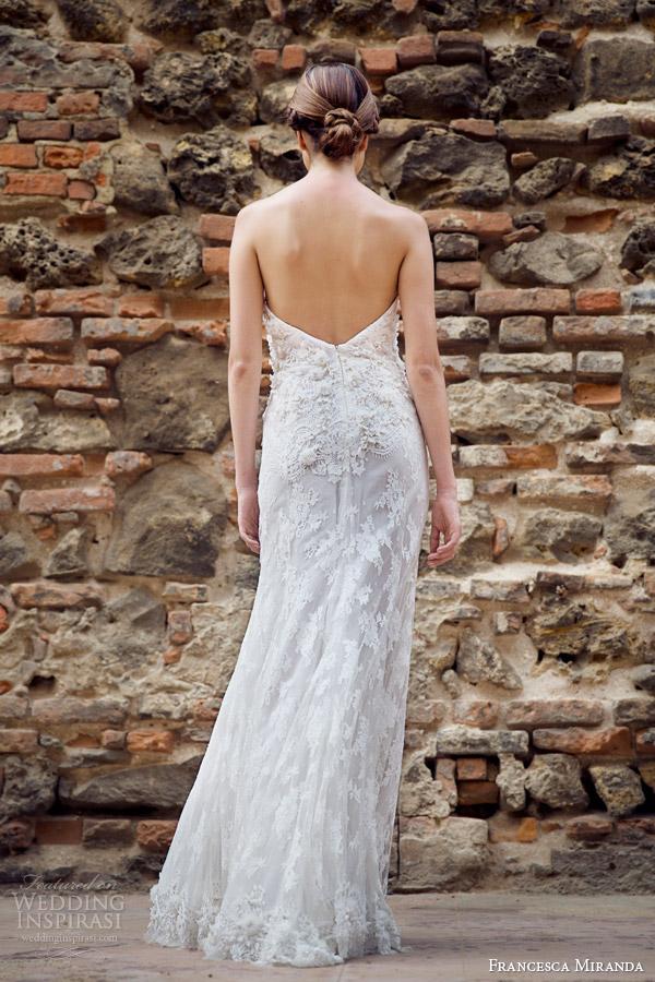 francesca miranda bridal fall 2014 dominique strapless wedding dress back