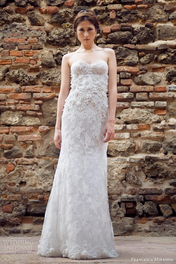 francesca miranda bridal fall 2014 dominique strapless wedding dress