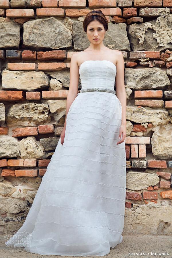 francesca miranda bridal fall 2014 madelaine strapless wedding dress