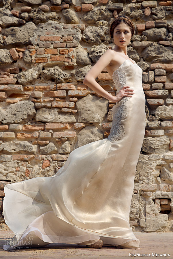 francesca miranda bridal fall 2014 marcelle strapless wedding dress