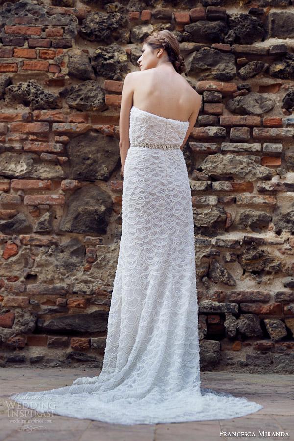 francesca miranda bridal fall 2014 pauline strapless wedding dress back