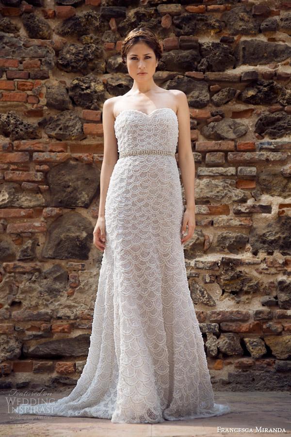 francesca miranda bridal fall 2014 pauline strapless wedding dress