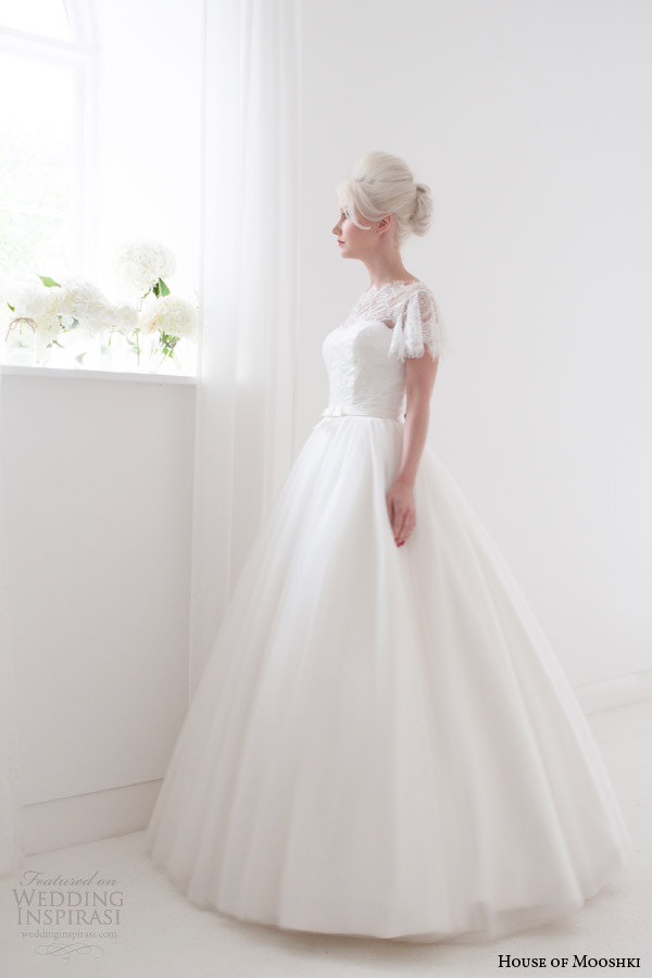 house of mooshki spring 2015 penelope floor length ball gown wedding dress side view